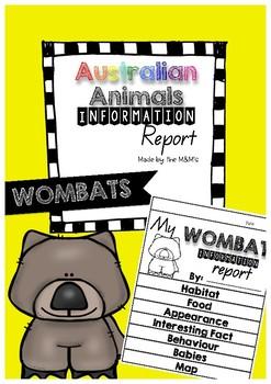 Information Report Flip Book (Wombats)