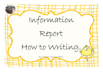 Information Report How to Writing (posters, labels, rubric)