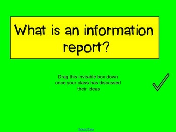 Information Report Notebook Slide