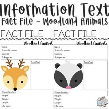 Information Report - Woodland Animals