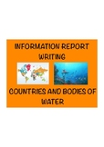 Information Report Writing - 30 pages! Using Countries! 4 weeks of work