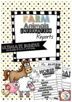 Information Report Writing Farm Animals Ultimate Bundle