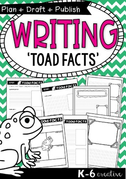 Information Report Writing {Toad Facts} - Plan Draft Publish