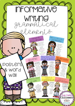 Information Reports Grammatical Elements - Posters & Word Wall