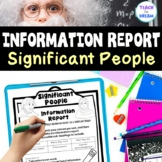 Significant People Information Report   Research Project