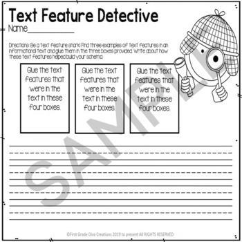 Nonfiction Text Feature Activities