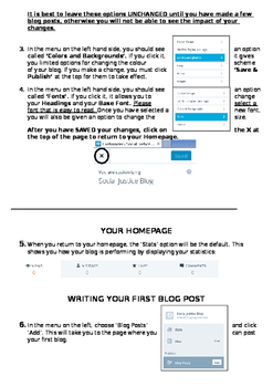 Information Sheet: How to make a Wordpress Blog