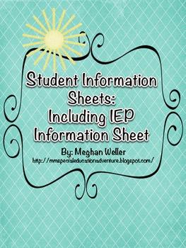 Information Sheet - IEP Information Sheet