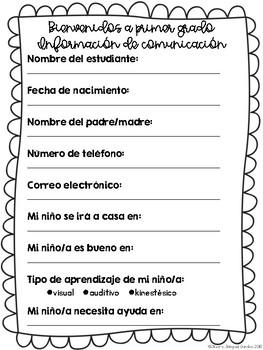 Information Sheet- Spanish