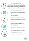 Information Sheet - What is in my therapy bag - Occupation