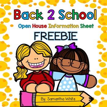 Information Sheet for Open House {FREEBIE}