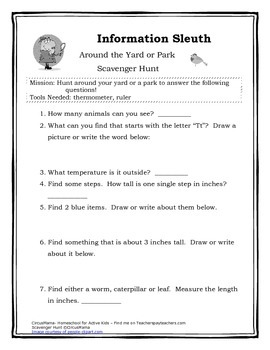 Information Sleuth Pack- Scavenger Hunts