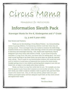 Information Sleuth Pack- Scavenger Hunts