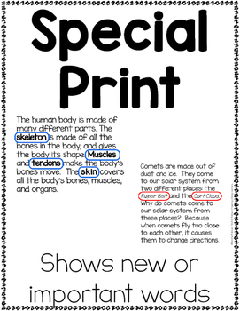 Informational {Non-fiction} Text Features Posters