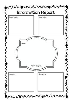 Information Text Graphic Organiser