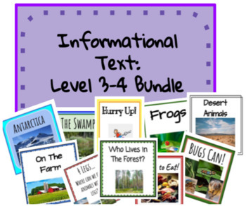 Information Text-  Level 3-4 - Packet
