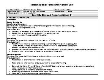 Information Text - Mexico Unit Plan