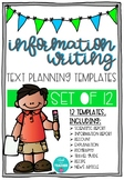 Information Text Planning Templates for Independent Writing
