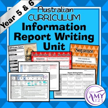 Information Text Writing Unit -Year 5 and 6- Aligned with ACARA