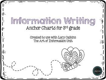 Information Writing 3rd Grade