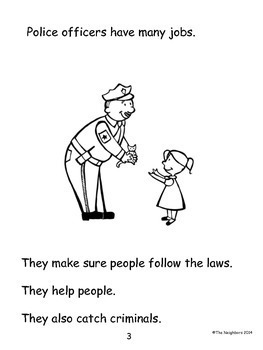 Community Helpers:Police Officer (Common Core Informational Writing)