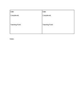 Information Writing Data Tracking Sheet