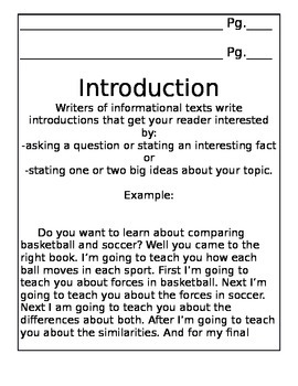 Information Writing Draft Packet
