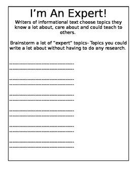 Information Writing Draft Packet