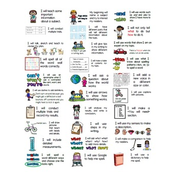 Goal Setting Labels & Posters for Gr. 2 Writers! Information Writing
