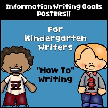 Goal Setting Mini Posters for Kindergarten Writers! Information Writing