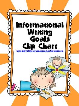 Informational Writing Goals Clip Chart
