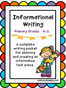 Informative Writing Primary Grades Planning and Book