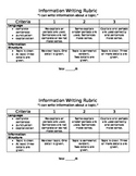 Information Writing Rubric