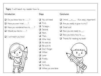 Information Writing Templates with Sentence Starters