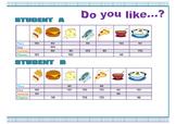 Information gap. Speaking activity. Food