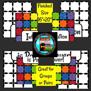 Information is Power Small Group Collaboration Poster Great for Library Month