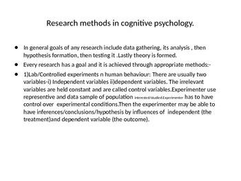 Information processing -Unit-1-Cognitive development