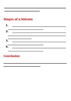 Information report / Explanation Writing on VOLCANOES