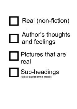 Information text checklist