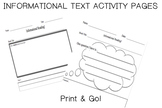Informational Activity Page