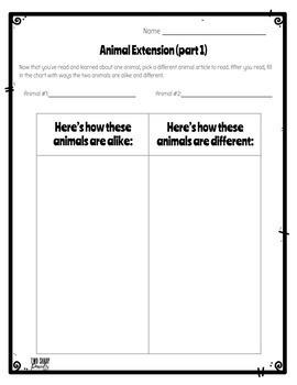 Informational Animal Articles: Digital Version