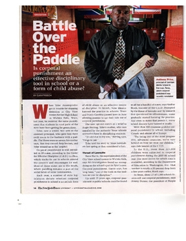 Informational Article - Battle Over the Paddle