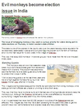 Informational Article - India Today and Hanuman, the Monkey God
