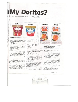 Informational Article - Who Shrank My Doritos?