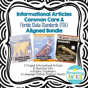 Informational Articles CCSS & FSA Aligned Reading and Lang