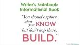 Informational Book Writer's Noteook