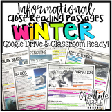 Winter Close Reading Passages {Text-Dependent Questions and Google Classroom!}