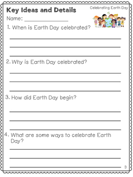 Earth Day Reading and Writing Bundle (April Reading Comprehension)
