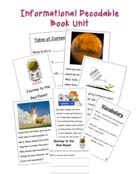 Informational Decodable Book Unit