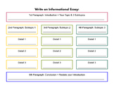 Informational Essay 5 Paragraphic Graphic Organizer